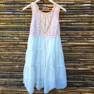Free People Knee Length Embroidered Dress Size S